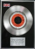 "A-HA - 7"" Platinum Disc - The Living Daylights"